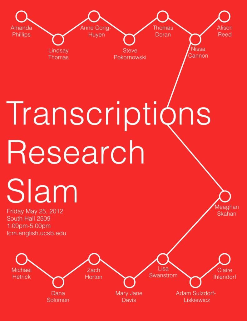Transcriptions presents the 5th Annual Research Slam