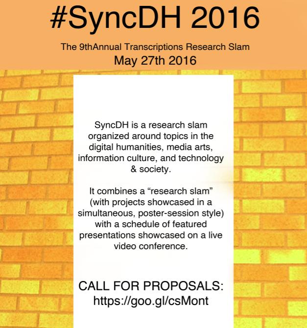 SyncDH: the 9th Annual Transcriptions Research Slam
